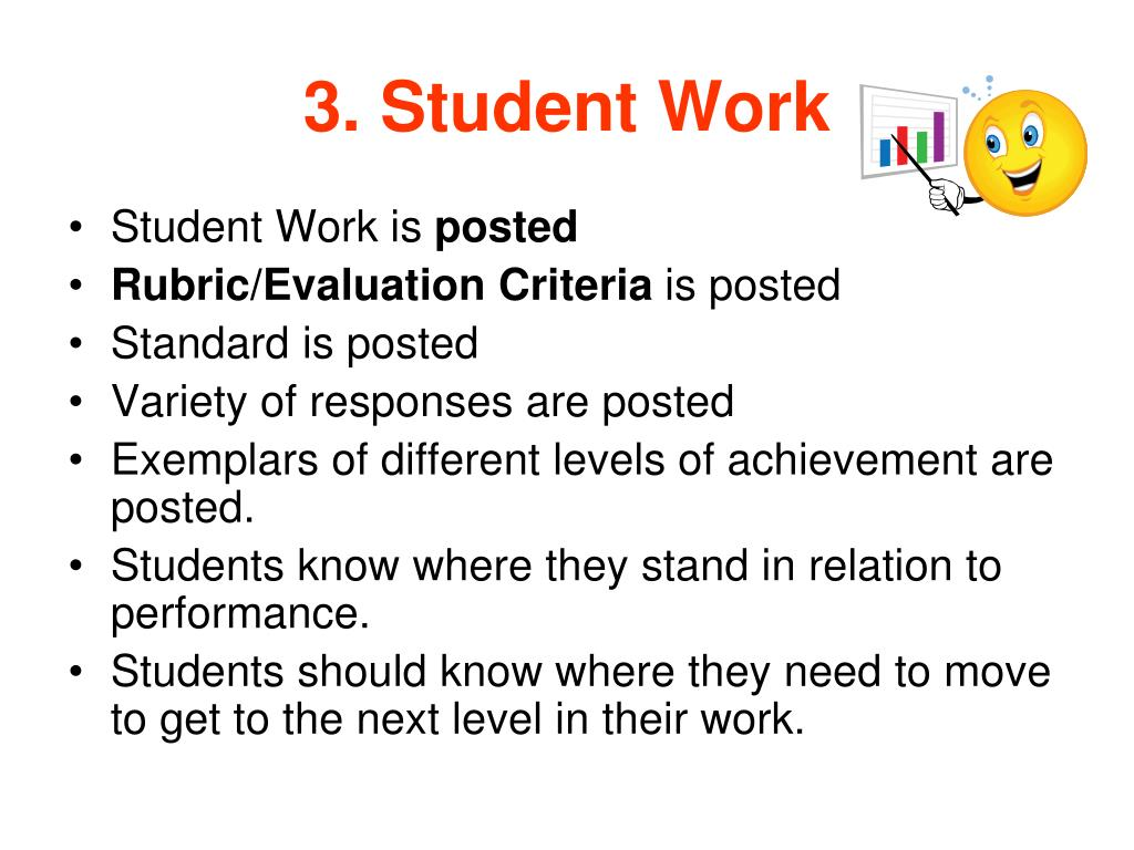 3. Student Work