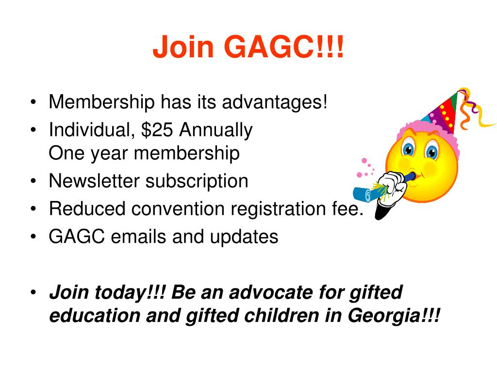 Join GAGC!!!