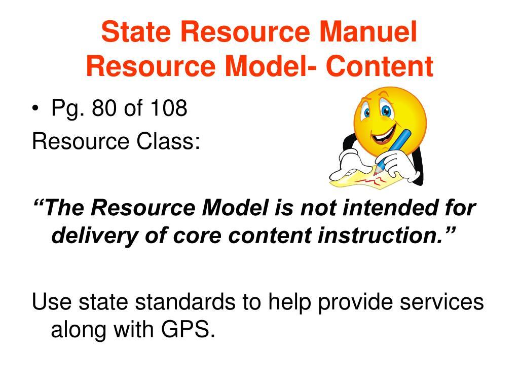 State Resource Manuel