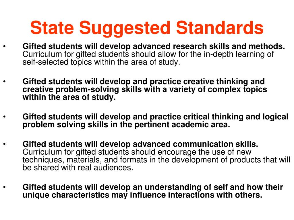 State Suggested Standards