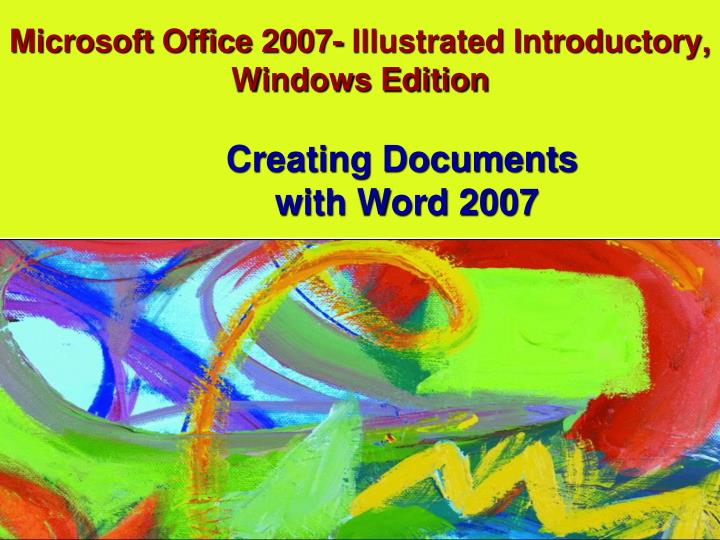 microsoft office 2007 illustrated introductory windows edition n.