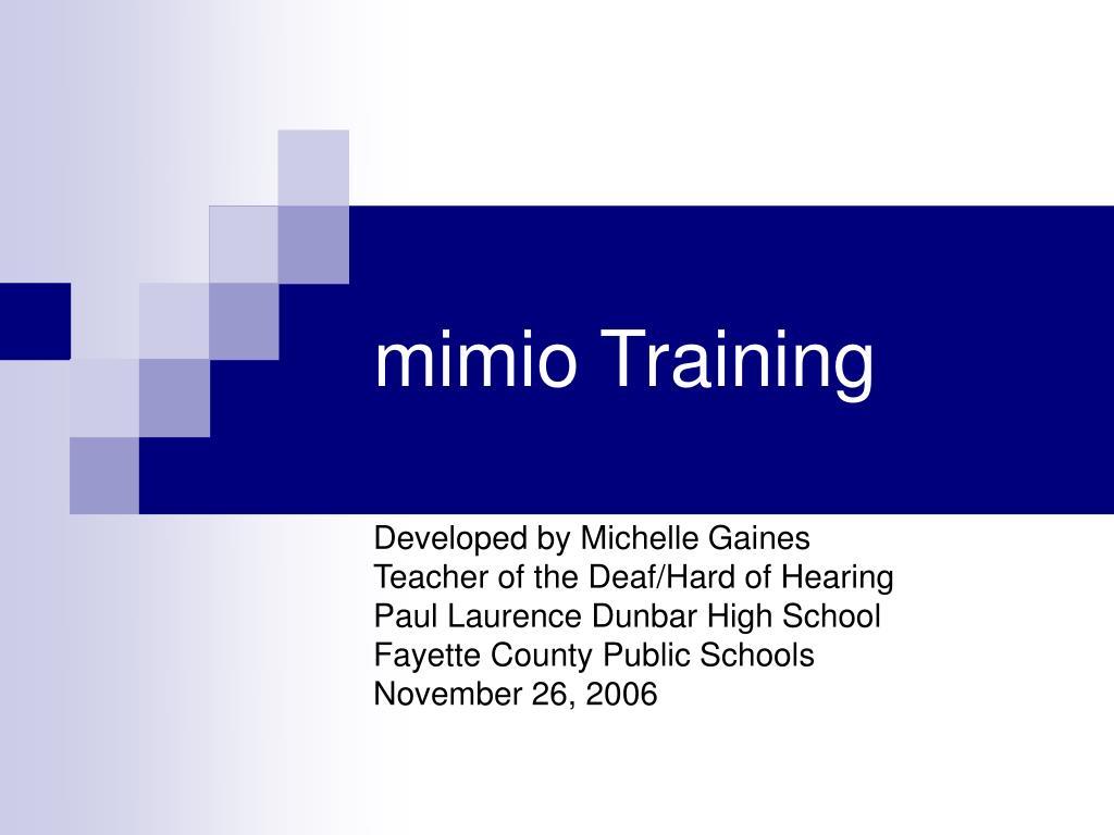 mimio training l.