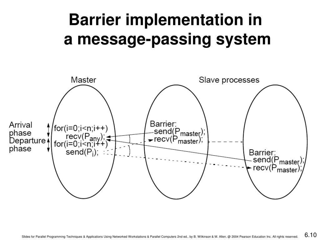 Barrier implementation in