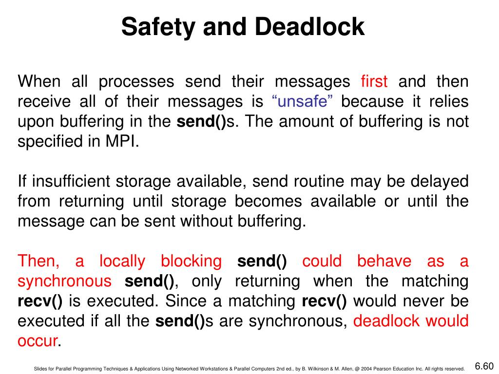 Safety and Deadlock