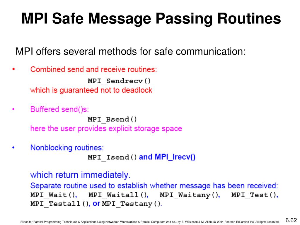 MPI Safe Message Passing Routines