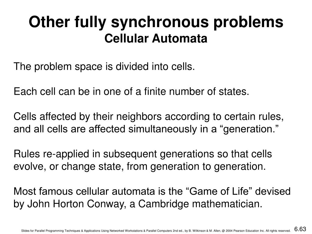 Other fully synchronous problems