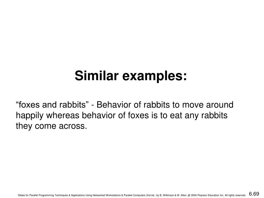 Similar examples: