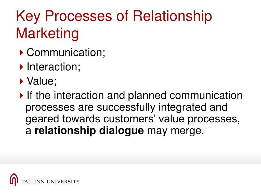 Key Processes of Relationship Marketing