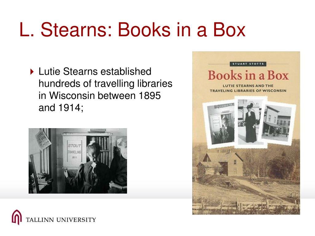 L. Stearns: Books in a Box