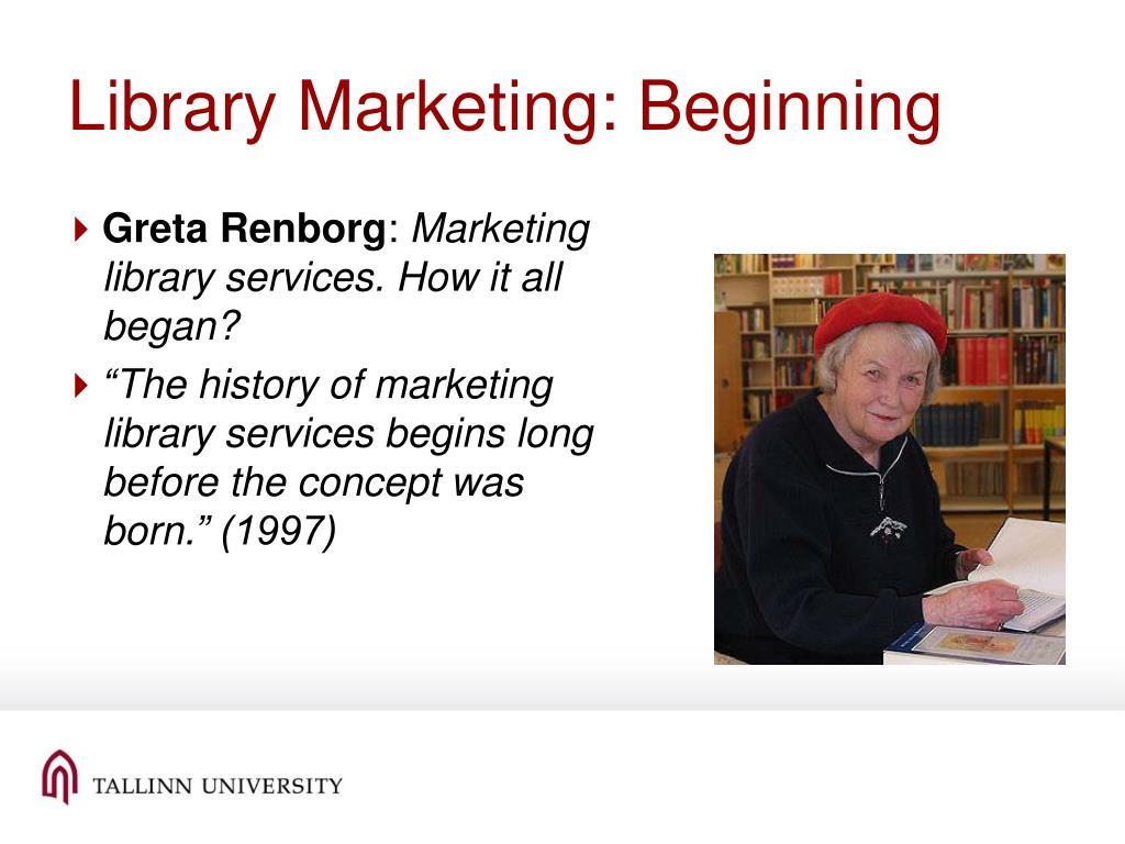 Library Marketing: Beginning