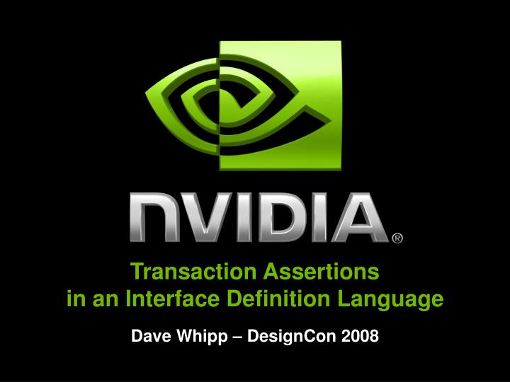 transaction assertions in an interface definition language n.