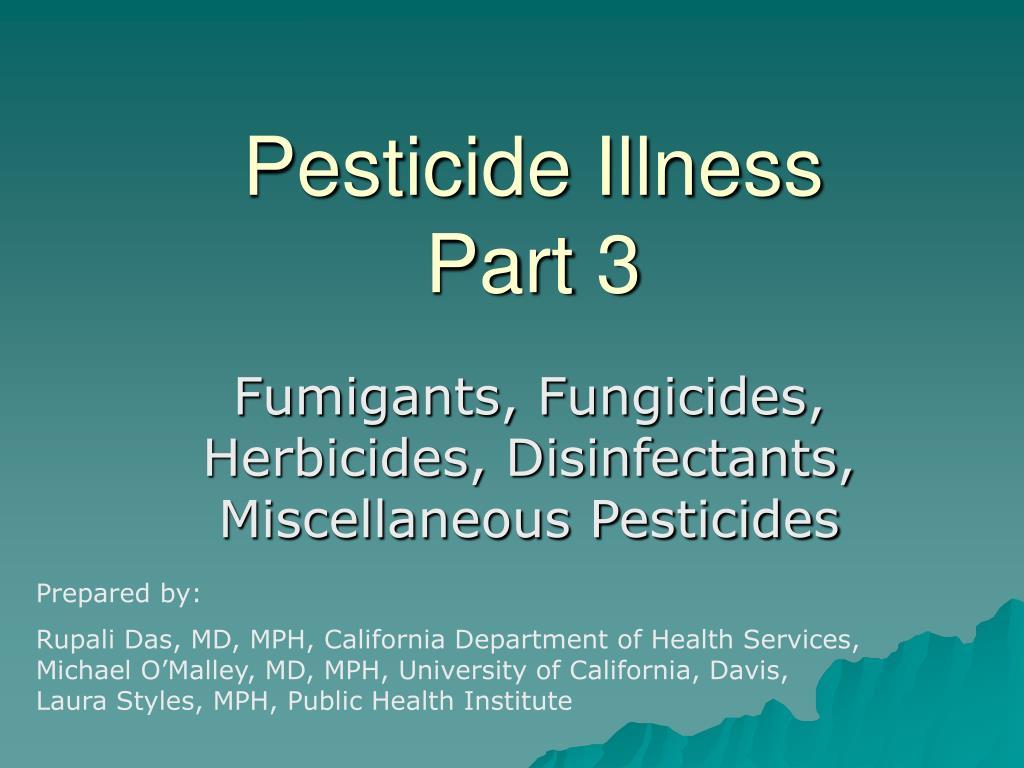 pesticide illness part 3 l.