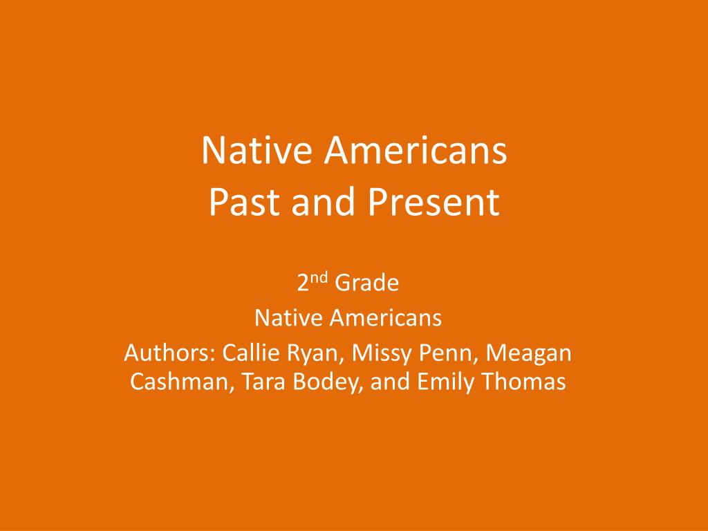native americans past and present l.