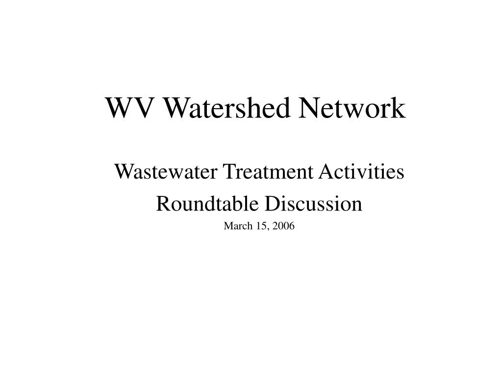 wv watershed network l.