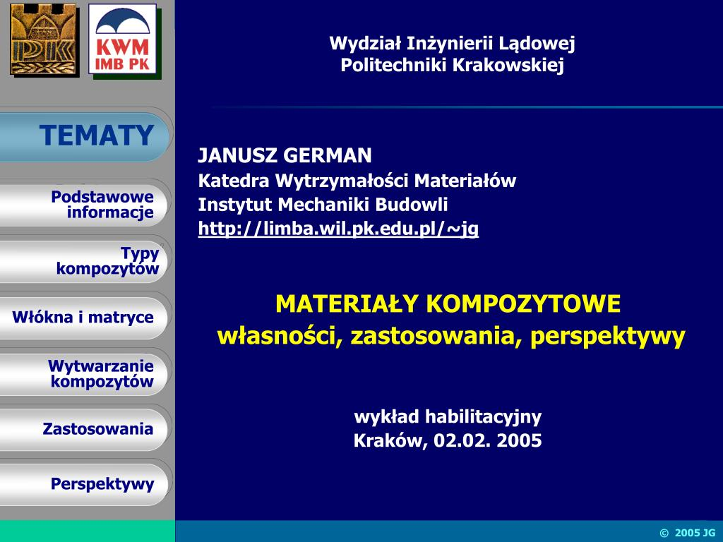 wydzia in ynierii l dowej politechniki krakowskiej l.