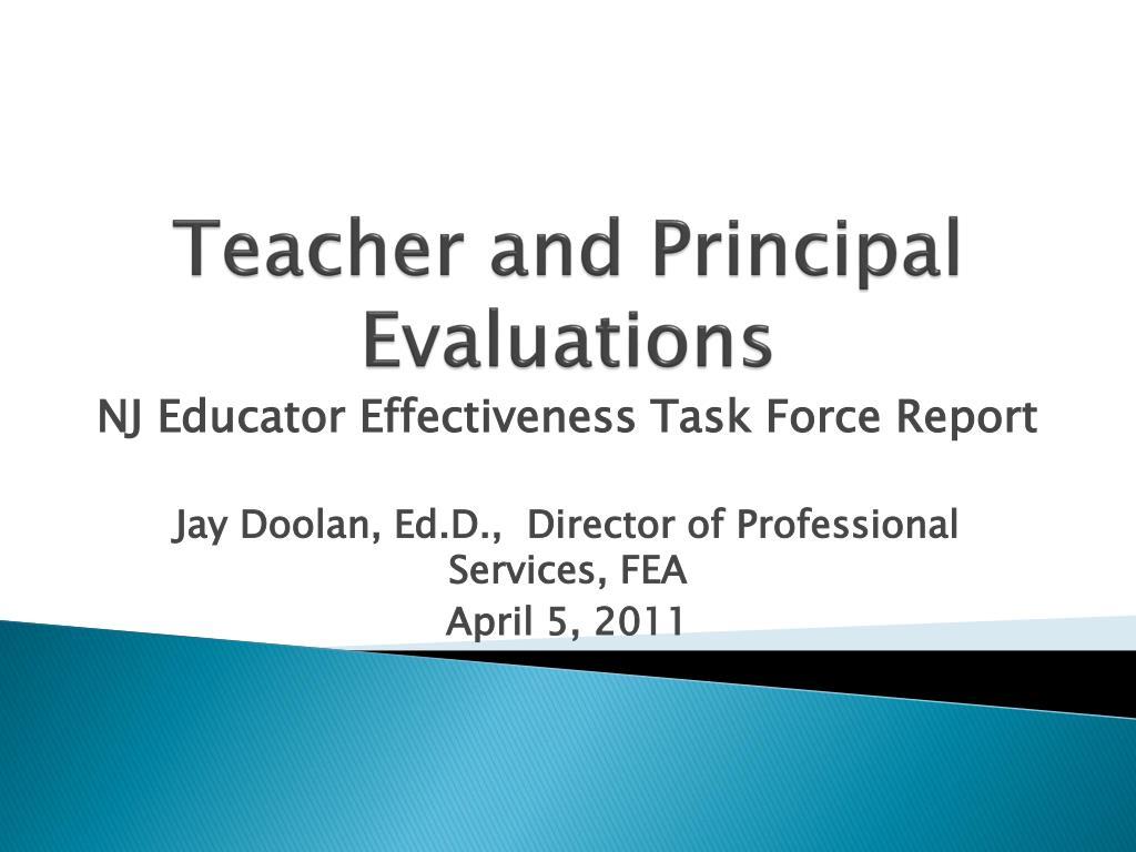 teacher and principal evaluations l.