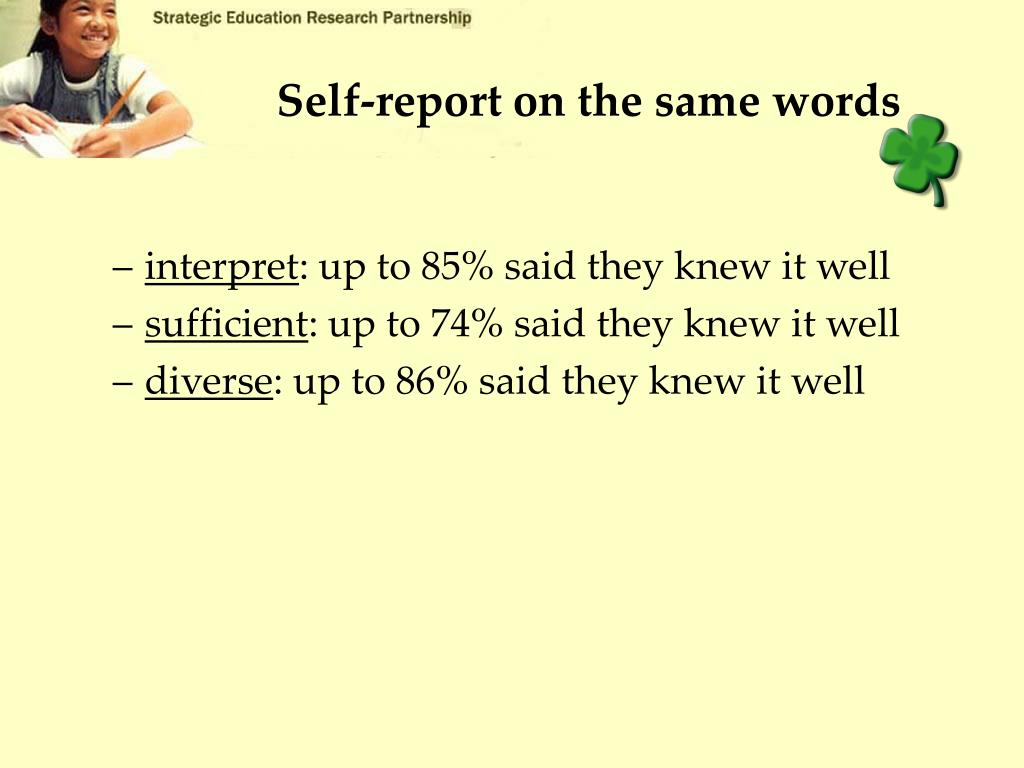 Self-report on the same words