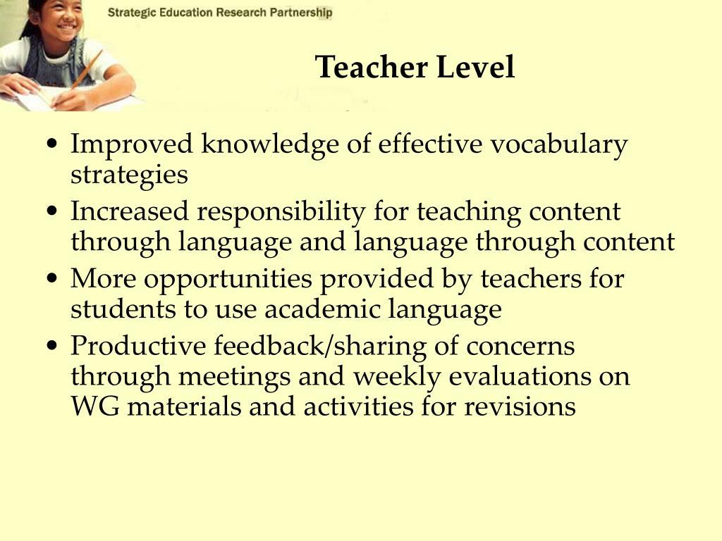 Teacher Level