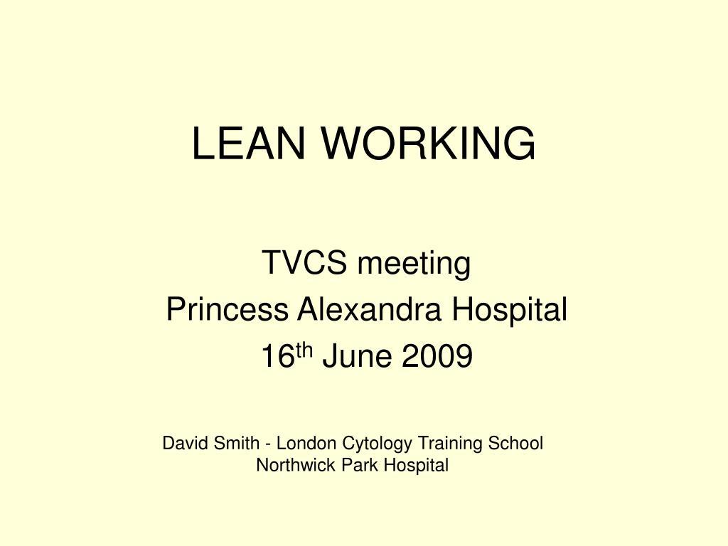 lean working l.
