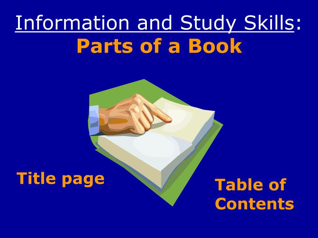 Information and Study Skills