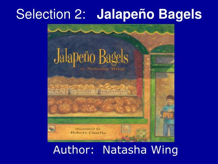 Selection 2 jalape o bagels