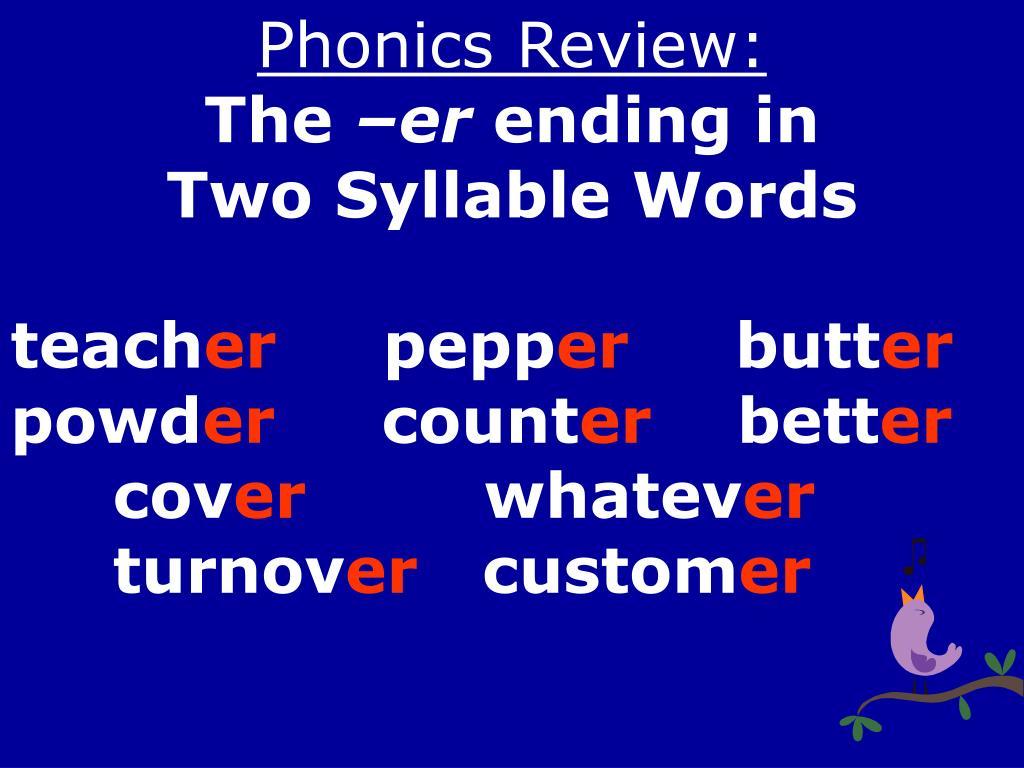 Phonics Review: