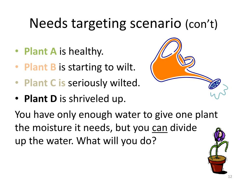 Needs targeting scenario