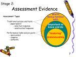 assessment evidence