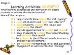 learning activities whereto