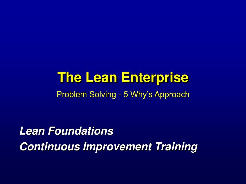 the lean enterprise l.
