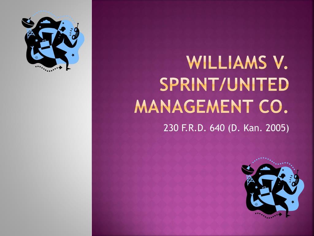 williams v sprint united management co l.