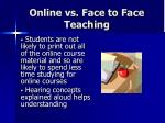 online vs face to face teaching