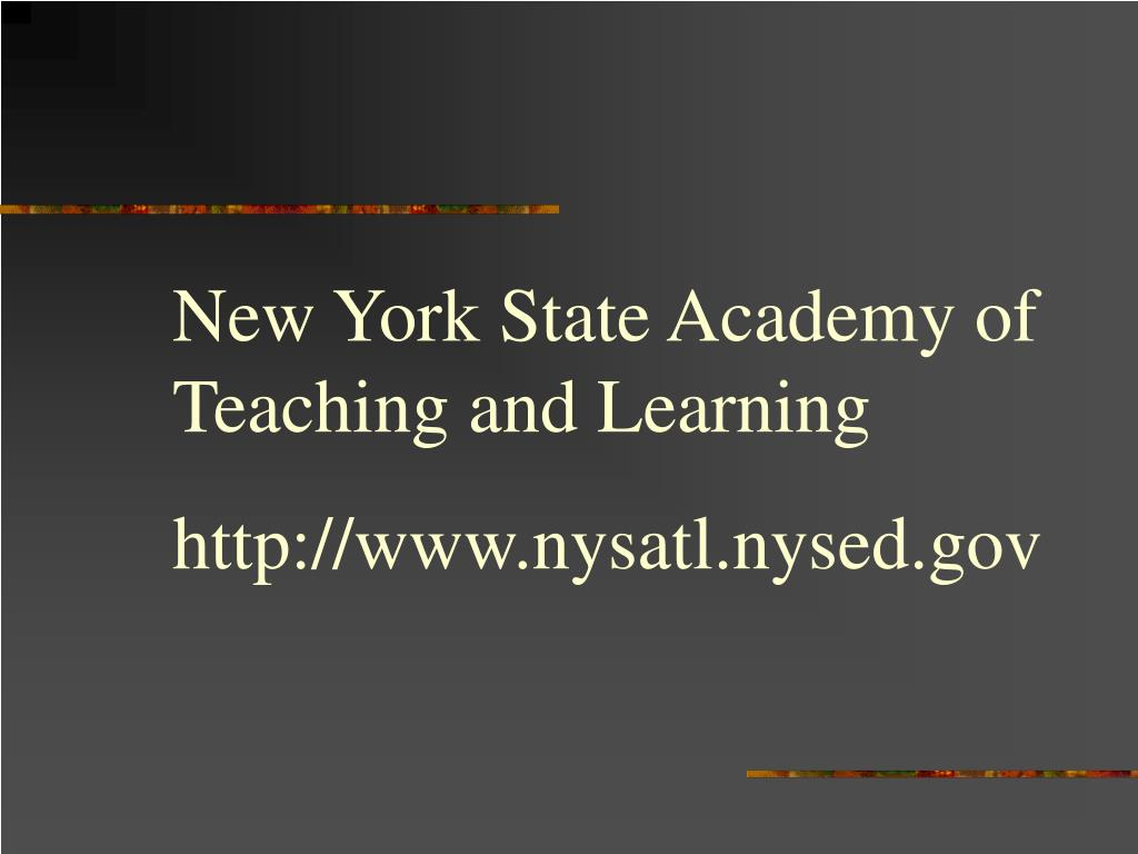 New York State Academy of Teaching and Learning