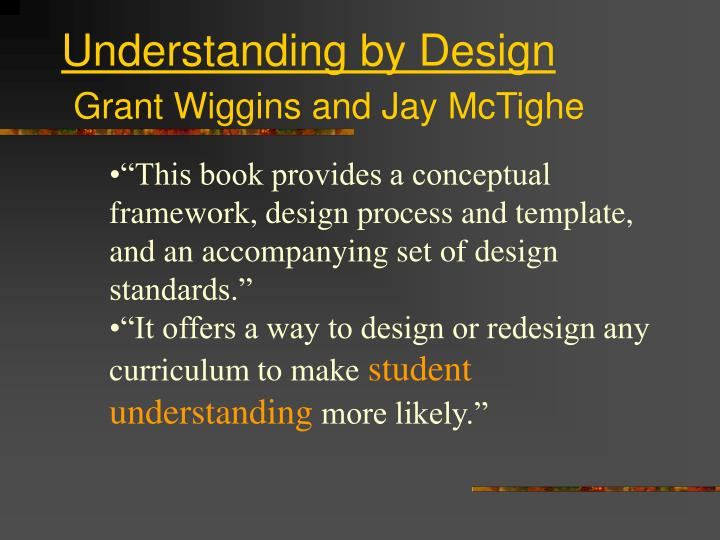 Understanding by design grant wiggins and jay mctighe3