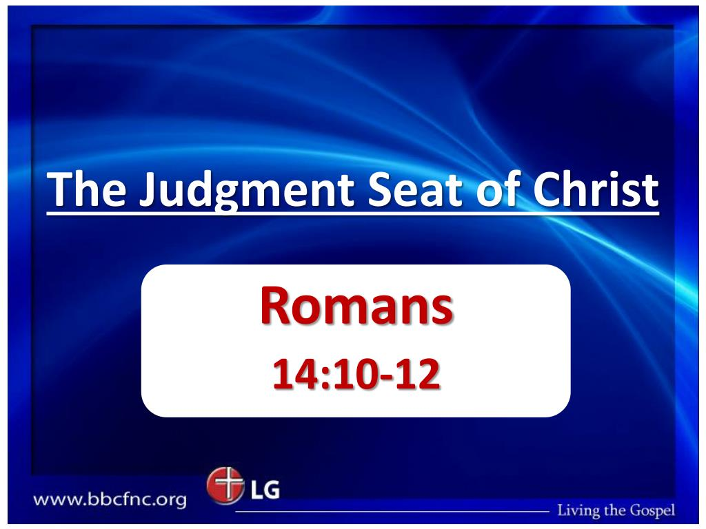the judgment seat of christ l.