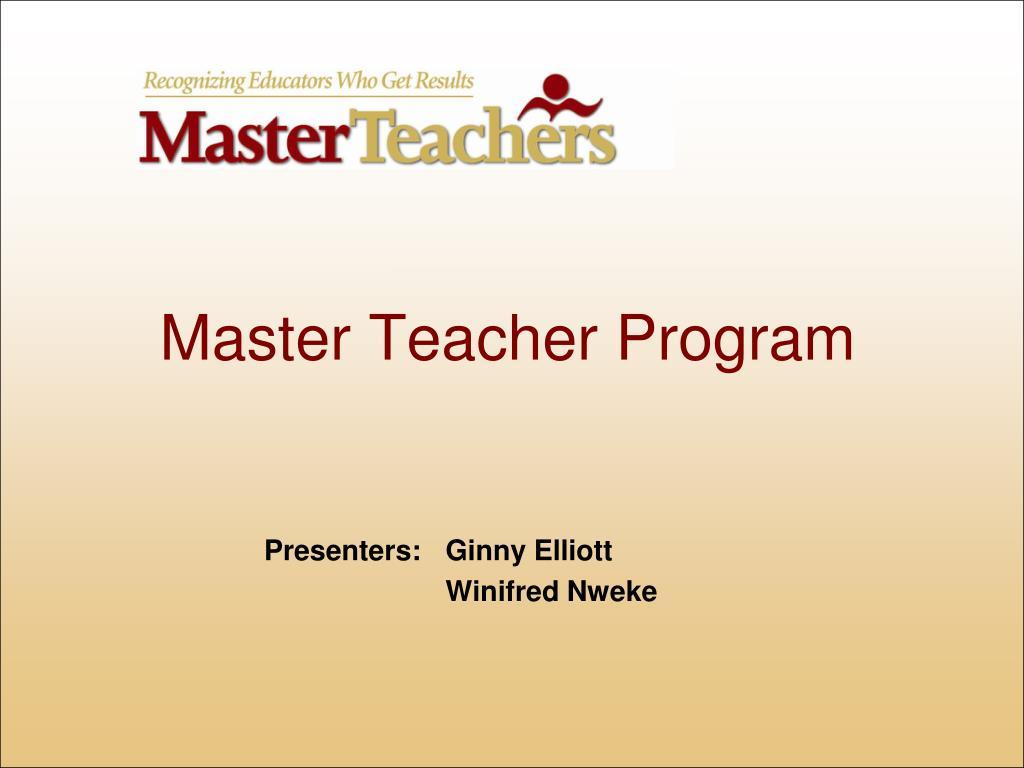 master teacher program l.