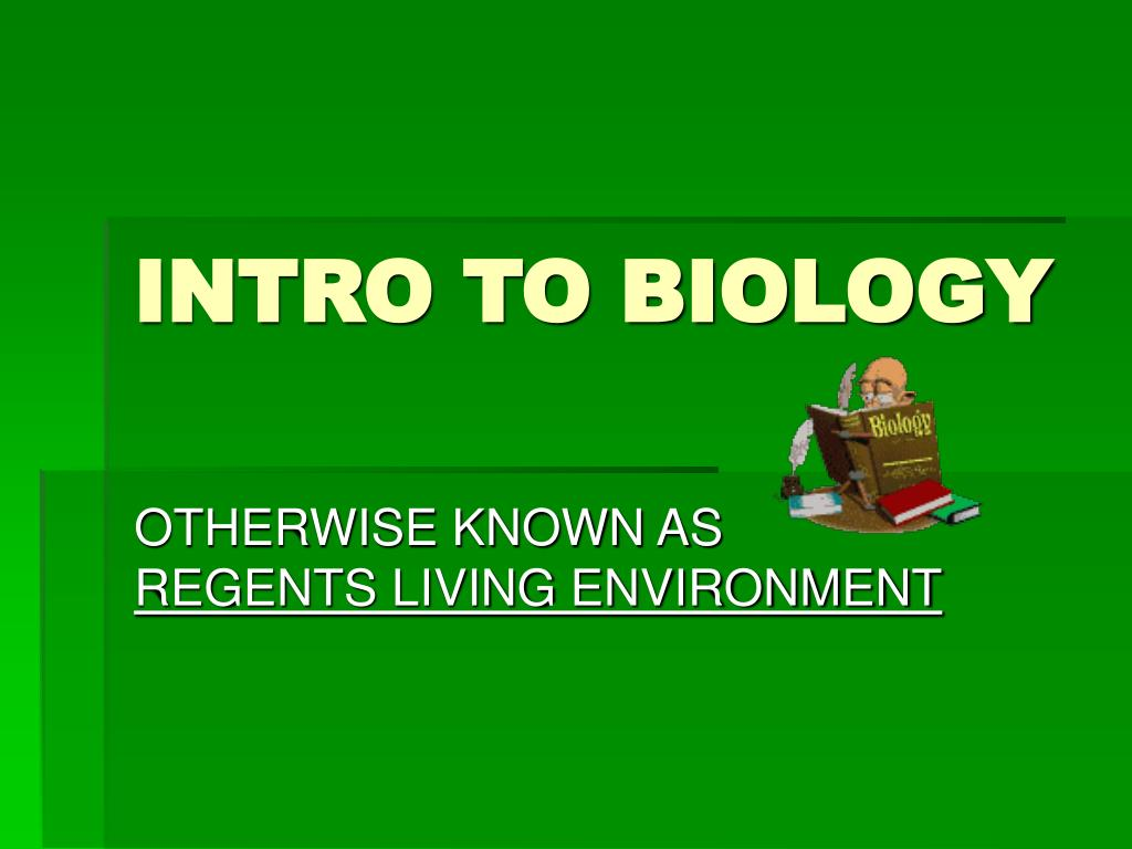intro to biology l.