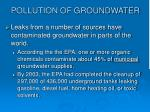 pollution of groundwater23