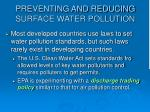 preventing and reducing surface water pollution36