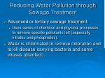 reducing water pollution through sewage treatment40