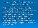 reducing water pollution through sewage treatment44