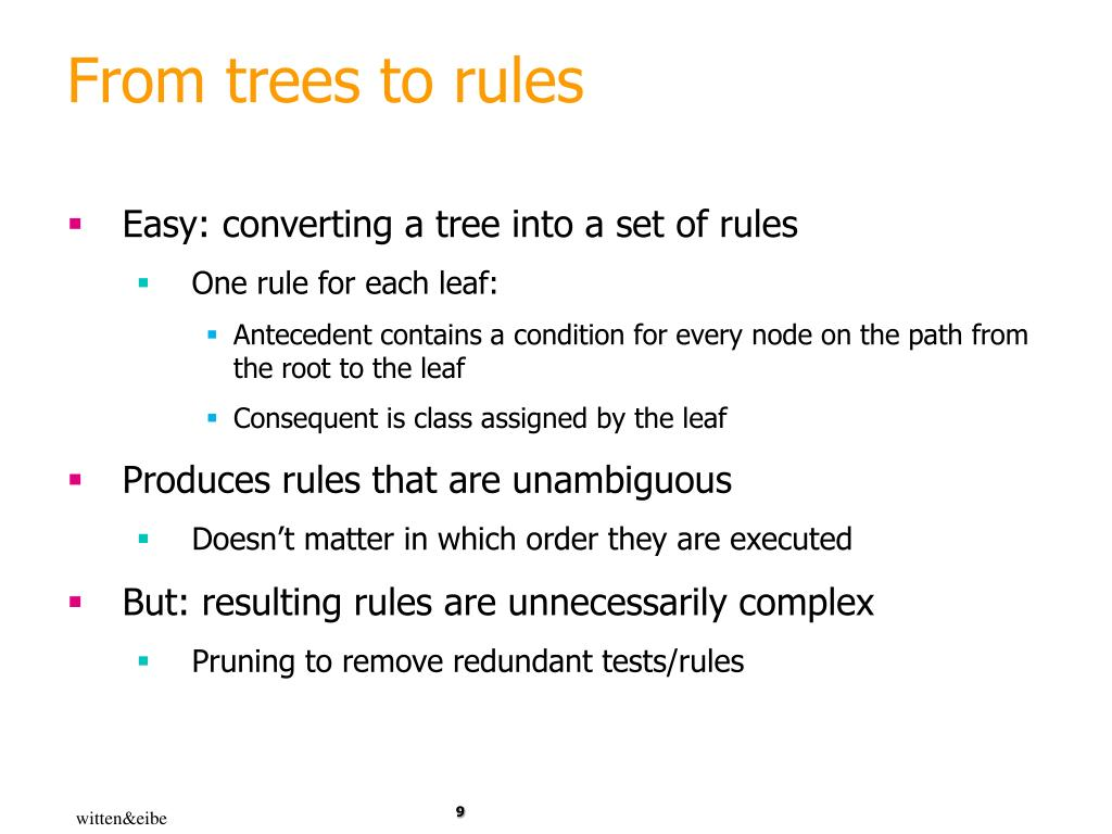From trees to rules