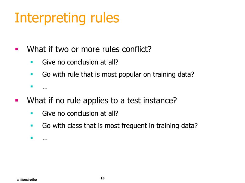 Interpreting rules