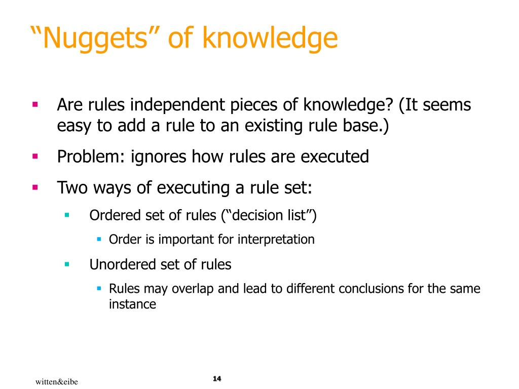 """""""Nuggets"""" of knowledge"""