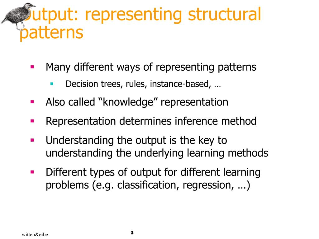 Output: representing structural patterns