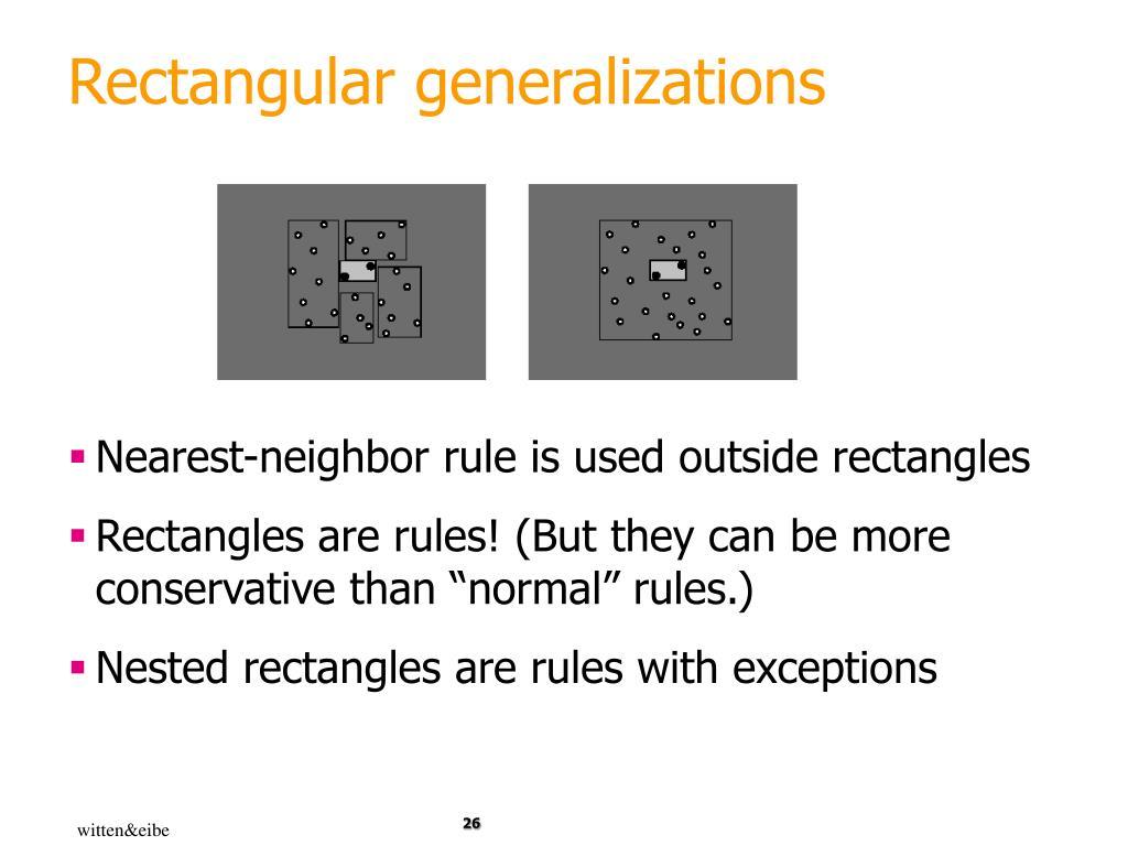 Rectangular generalizations