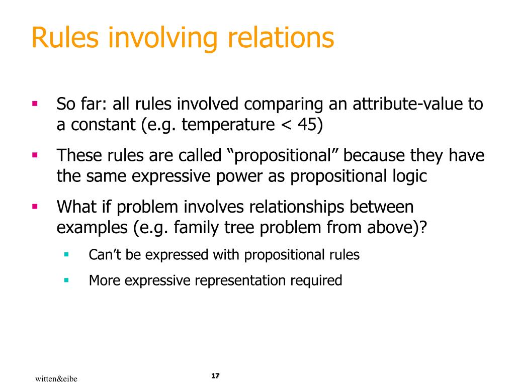 Rules involving relations
