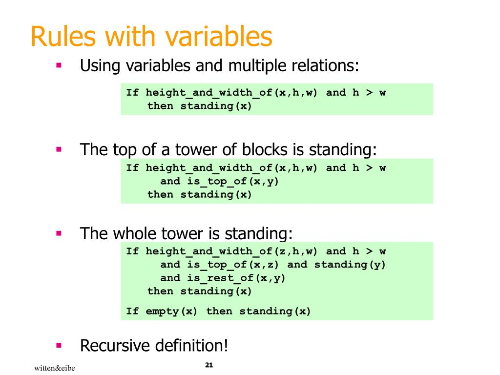 Rules with variables