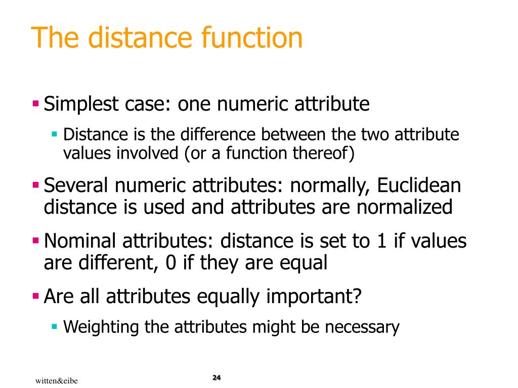 The distance function
