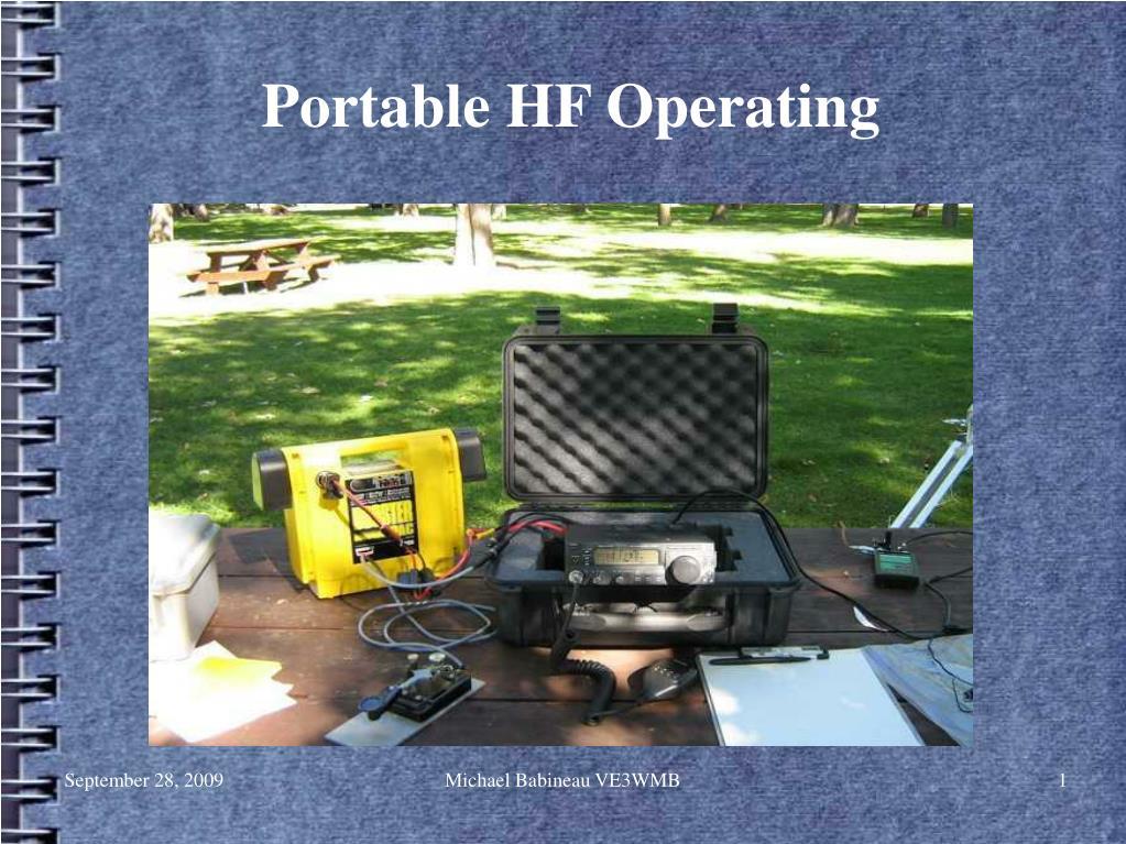 portable hf operating l.